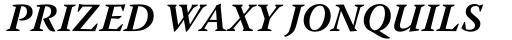 Warnock Pro Bold Italic sample