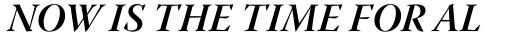Warnock Pro Display Bold Italic sample