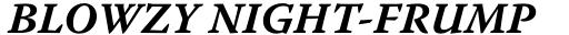 Warnock Pro Caption Bold Italic sample