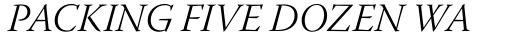 Warnock Pro SubHead Light Italic sample