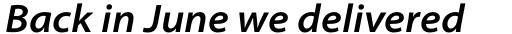 Myriad Pro SemiExt SemiBold Italic sample