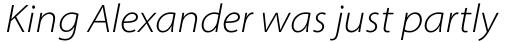 Myriad Pro SemiExt Light Italic sample