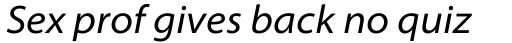 Myriad Pro SemiExt Italic sample