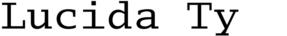 Click to view Lucida Typewriter font, character set and sample text