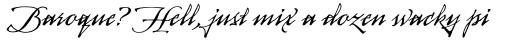 Arcana Std Manuscript sample