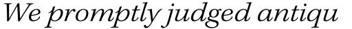 Kepler Std Ext Light Italic sample