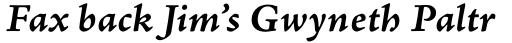 Adobe Jenson Pro Caption Bold Italic sample