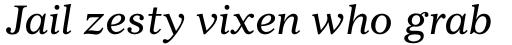 Gazette LT Std Italic sample