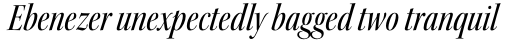 Kepler Std Display Cond Medium Italic sample