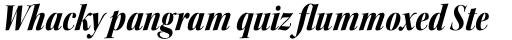 Kepler Std Display Cond Black Italic sample