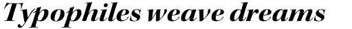 Kepler Std Display Ext Bold Italic sample