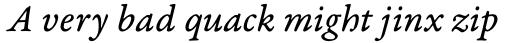 Garamond Premr Pro Caption Italic sample