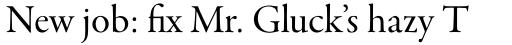Garamond Premr Pro SubHead sample