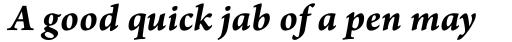 Arno Pro SmallText Bold Italic sample