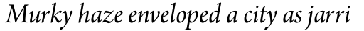 Arno Pro SubHead Italic sample