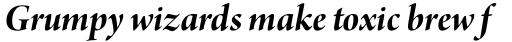 Arno Pro Display Bold Italic sample