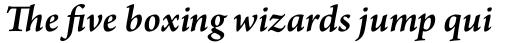Arno Pro SemiBold Italic sample
