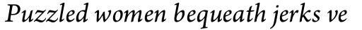 Arno Pro SmallText Italic sample