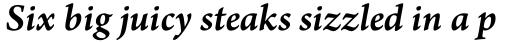 Arno Pro SmallText SemiBold Italic sample