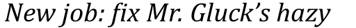 Cambria Italic sample
