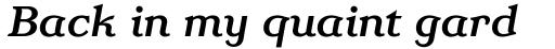 Homeland BT Medium Italic sample
