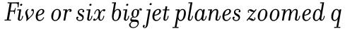Filosofia Italic sample