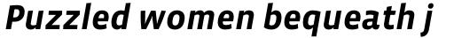 Vista Sans Bold Italic sample