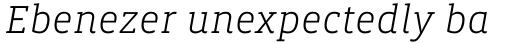 Vista Slab Light Italic sample
