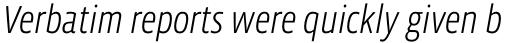 Vista Sans Narrow Light Italic sample