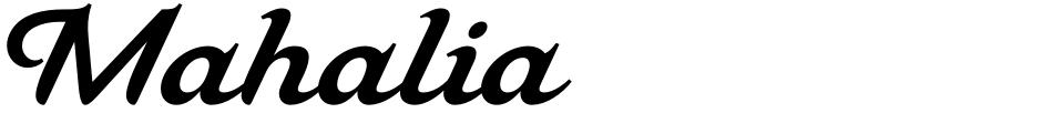 Click to view Mahalia font, character set and sample text