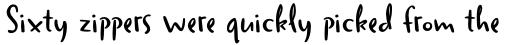 Duffy Script DemiBold sample