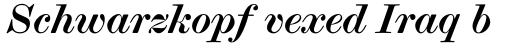 Scotch Modern Bold Italic sample