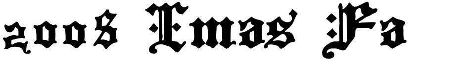 Click to view 2008 Xmas Fantasy font, character set and sample text
