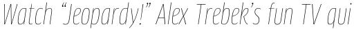 FF Clan Pro Cond Thin Italic sample