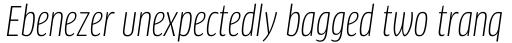 FF Clan Pro Cond Book Italic sample