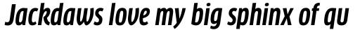 FF Clan Pro Cond Bold Italic sample