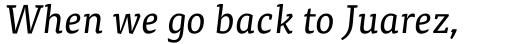 FF Tisa Pro Italic sample