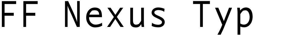 Click to view FF Nexus Typewriter font, character set and sample text
