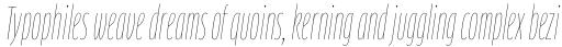 FF Clan Pro Comp Thin Italic sample