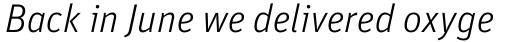 FF Unit Pro Light Italic sample