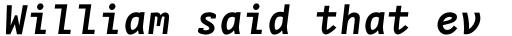 FF Nexus Typewriter OT Bold Italic sample
