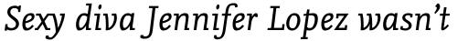 FF Nexus Mix Pro Italic sample
