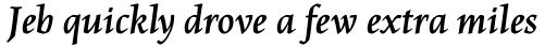 Maiola OT Bold Italic sample