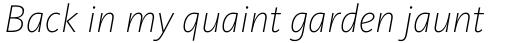 FF Kievit Pro ExtraLight Italic sample