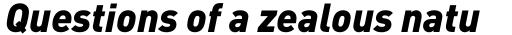 FF DIN Pro Black Italic sample