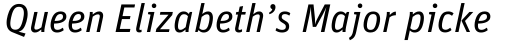 FF Unit Pro Italic sample