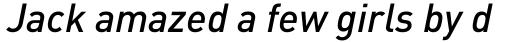 FF DIN OT Medium Italic sample