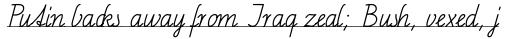 FF Schulschrift OTC Linien Eins sample
