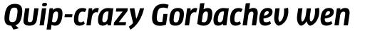 FF Clan Pro Narrow Bold Italic sample