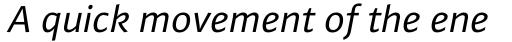 FF Plus Sans Pro Italic sample